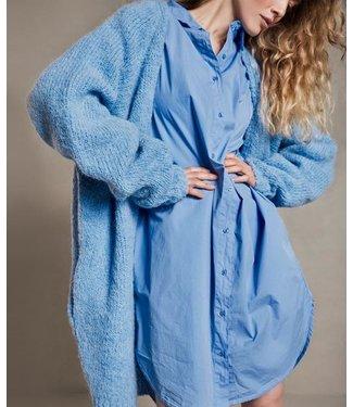 10Days Shirt dress blauw 20-403-1204