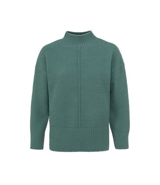 Yaya Sweater with seam at front Dark Forest Green1000493-123