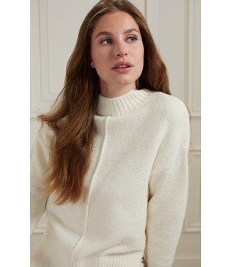 Yaya Sweater with seam at front Wool White 1000493-123