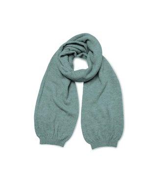 Yaya Knitted cuff scarf Greyish Green Milieu Melange 130009-123