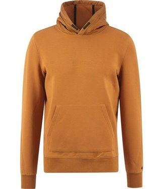 Cast Iron Hooded relaxed fit cotton interlock cognac CSW215402