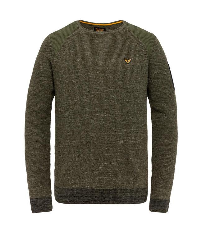 PME Legend R-neck cotton rib knit **01 PKW215303