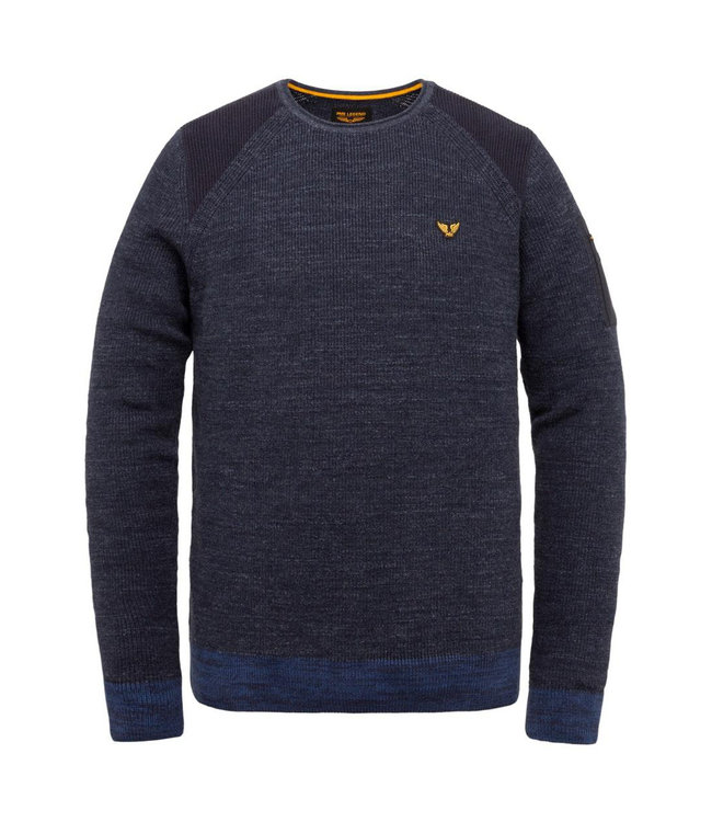 PME Legend R-neck cotton rib knit **00 PKW215303