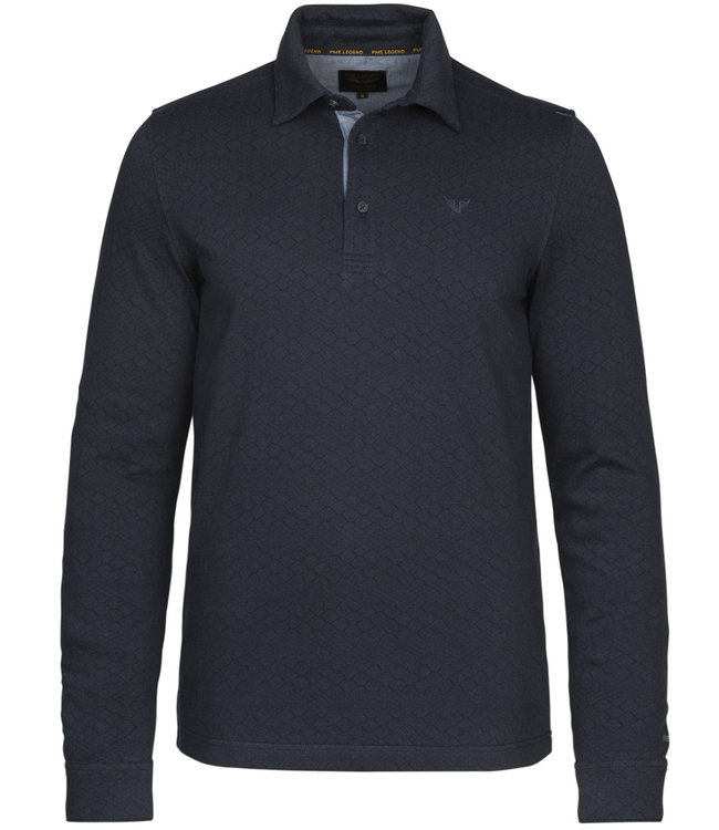 PME Legend Long sleeve polo jacquard jersey **00 PPS216838