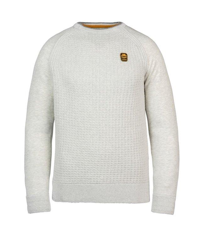 PME Legend R-neck knit sweat combination **01 PKW216327