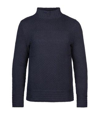 PME Legend Mock neck cotton structure knit **00 PKW216326