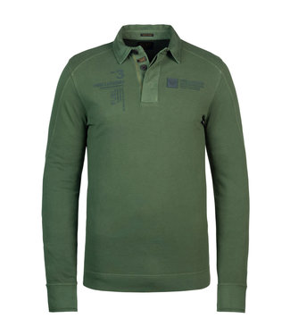 PME Legend Long sleeve polo rugged pique **00 PPS215831