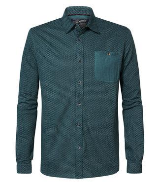 Petrol Industries Shirt l/s groen M-3010-SIL417
