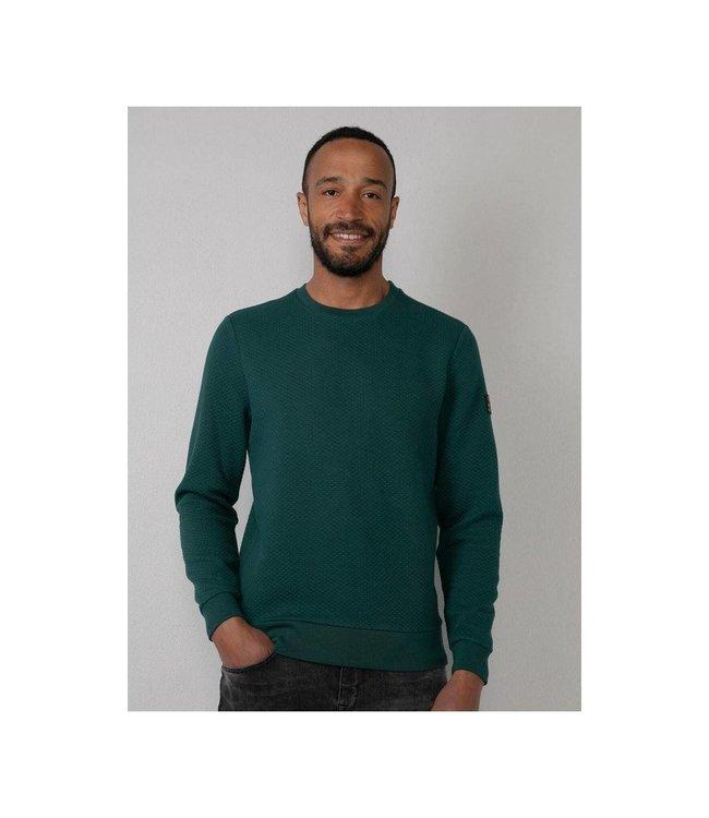 Petrol Industries Sweater round neck groen M-3010-SWR328