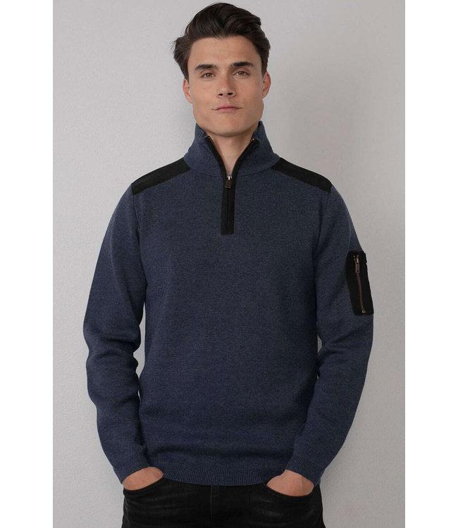 Petrol Industries Men knitwear collar donkerblauw M-3010-KWC254
