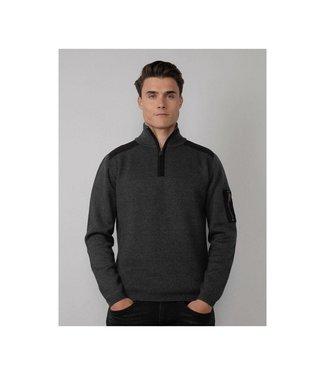 Petrol Industries Men knitwear collar zwart M-3010-KWC254