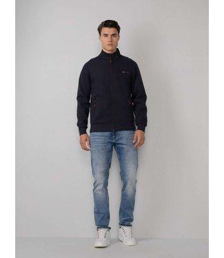Petrol Industries Sweater collar donkerblauw M-3010-SWC340