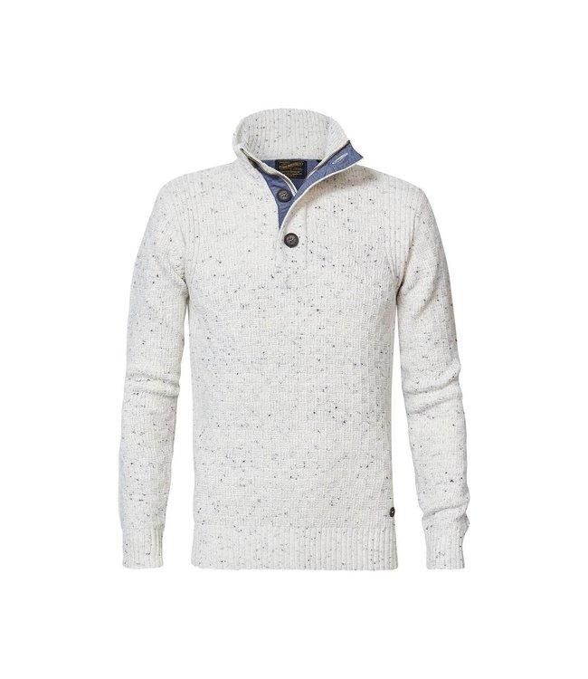 Petrol Industries Men knitwear collar off white M-3010-KWC226