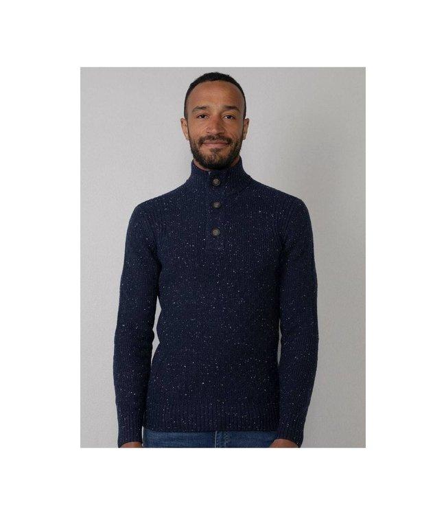 Petrol Industries Men knitwear collar donkerblauw M-3010-KWC226