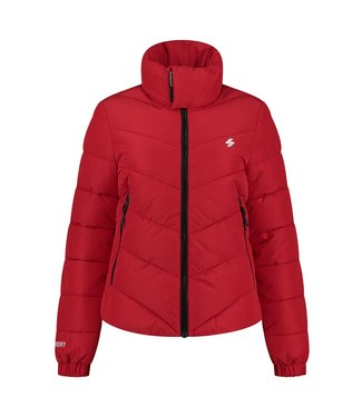 Superdry Non hooded sports puffer rood W5010952A