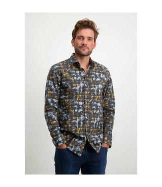 State of Art Shirt LS Printed Pop 214-21210-5984