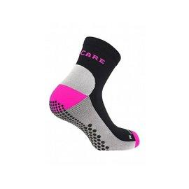 Supcare Compressiesokken sport, roze-zwart