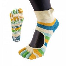 ToeToe ToeToe yoga sokken antislip  -  gele strepen