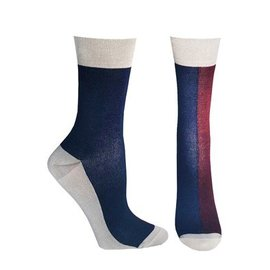 Supcare Bamboe compressiesokken blauw/rood/wit