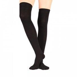 ToeToe ToeToe overknee sokken zwart