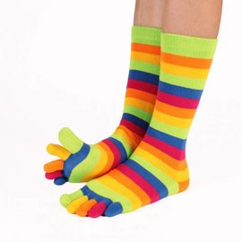 ToeToe ToeToe Essential teensokken - Striped Green