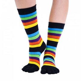 ToeToe ToeToe Essential teensokken - Striped Neon