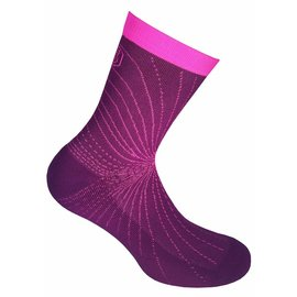 Supcare Cooling Knit compressie-sportsokken - roze/paars