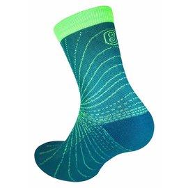 Supcare Cooling Knit compressie-sportsokken - groen/blauw