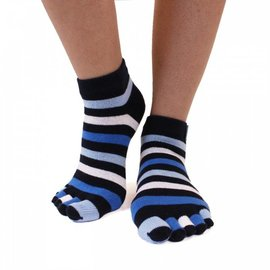 ToeToe ToeToe Essential Anklet teensokken - Striped Denim