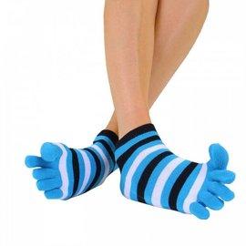 ToeToe ToeToe Essential Anklet teensokken - Striped Turquoise