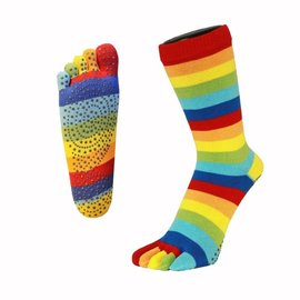 ToeToe Toe Toe Anti-Slip teensokken - Striped Rainbow