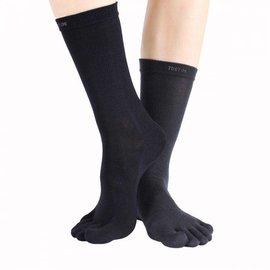 ToeToe ToeToe Outdoor - Teensokken van wol, zwart