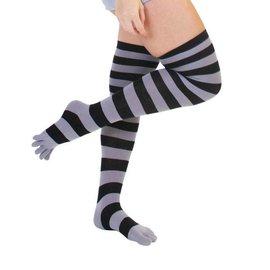 ToeToe ToeToe overknee sokken Zwart-grijs