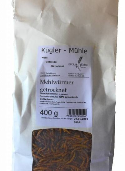 Kügler-Mühle Mehlwürmer getrocknet 400g