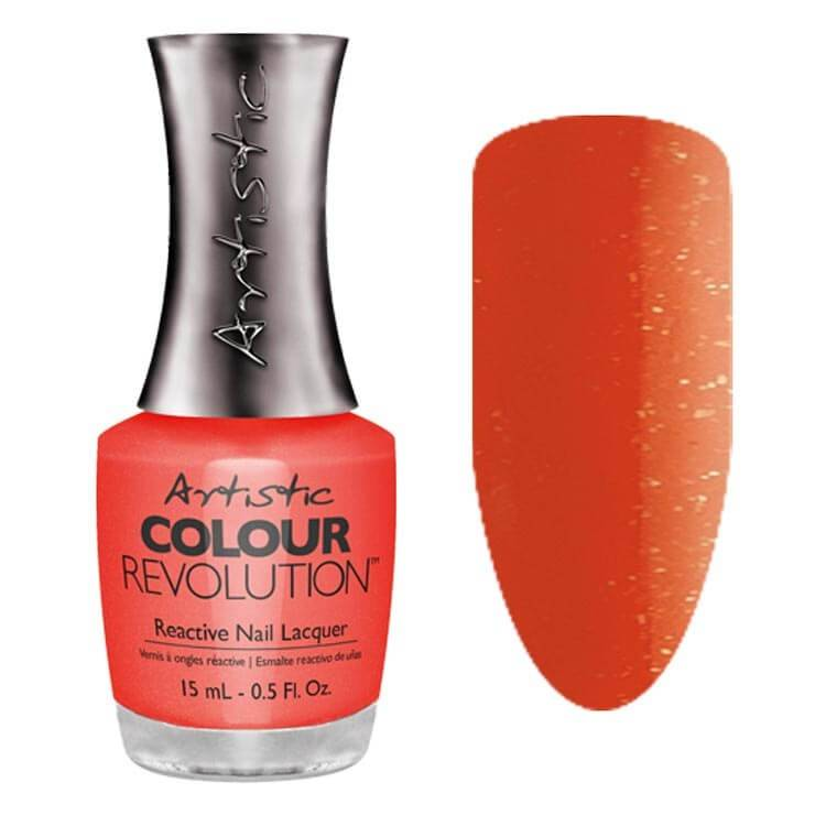 Artistic Nail Design Artistic Color revolution Haute Cout Orange