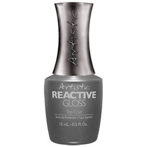 Artistic Nail Design Reactive Gloss Top Coat 15ml