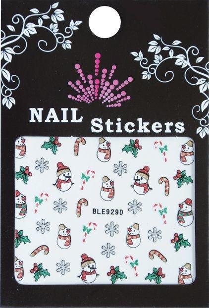 Bell'ure Nail Art Sticker Christmas Snowman