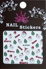 Bell'ure Nail Art Sticker Christmas Santa's Head