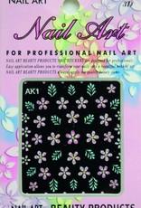 Bell'ure Nail Art Sticker Flowers AK1