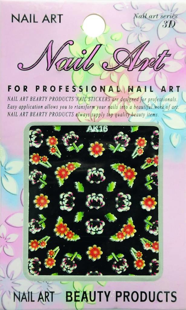 Bell'ure Nail Art Sticker Flowers AK16