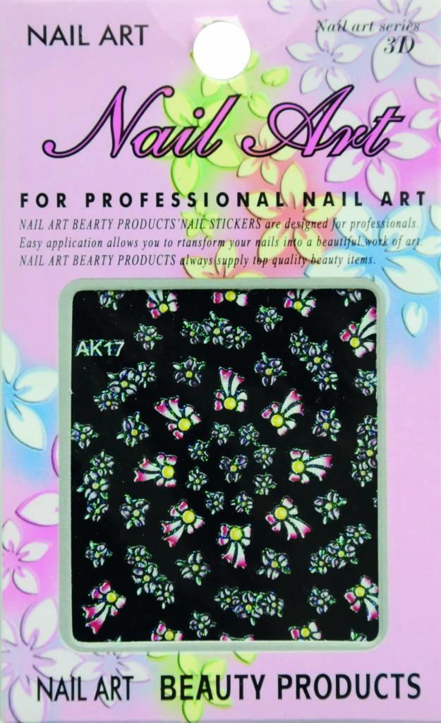 Bell'ure Nail Art Sticker Flowers AK17
