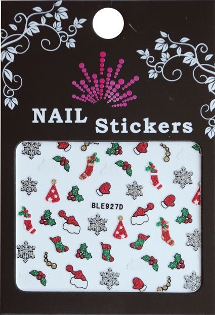 Bell'ure Nail Art Sticker Christmas Socks & Hats