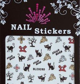 Bell'ure Nail Art Sticker Halloween Cats & Ghosts