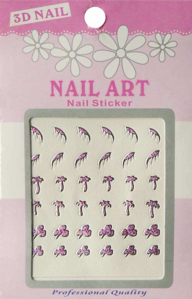 Bell'ure Nail Art Sticker 3D 101