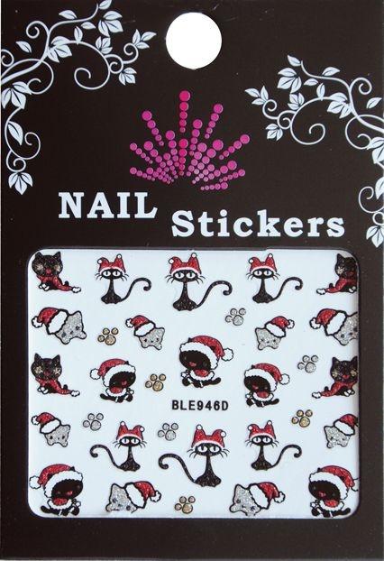 Bell'ure Nail Art Sticker Christmas Cats