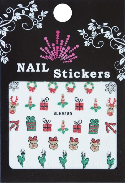 Bell'ure Nail Art Sticker Christmas Reindeer