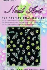 Bell'ure Nail Art Sticker Flowers AK10
