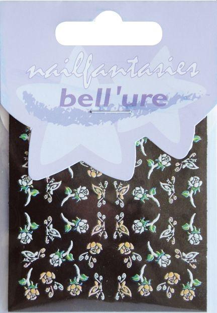 Bell'ure Nail Art Sticker Butterflies & Roses