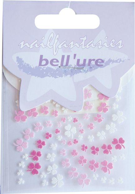 Bell'ure Nail Art Sticker Clover Pink & White