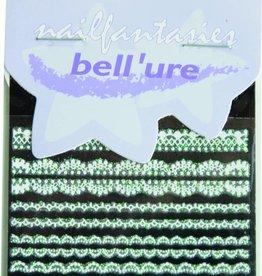 Bell'ure Nail Art Sticker Lace White & Green